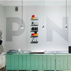 Pino, a fresh and colorful store from Finland, that sells unique, functional and innovative design objects. The concept comes from the name of the shop, which means a 'pile' or 'stack' in Finnish. Great interiors by Bond Creative Agency.