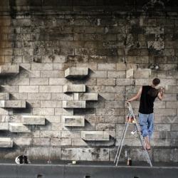 A cool street art piece by Sly2 seen in Vitry, France.