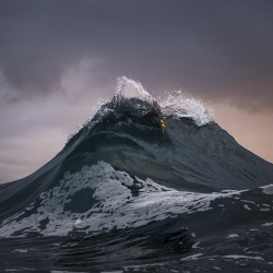 Ray Collins, an Australian photographer, first picked up a camera in 2007, took photos of his friends surfing, to relax after long shifts working in a nearby coal mine. Did not take long to shift focus from surfing to waves.