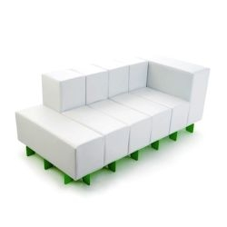 "Now being sold for the first time, the so called ""Oi Modular Sofa"" by ilikeOi. Packs down to 30"" for easy packaging. Yumm!  Look at it, its cubularly beautiful!"