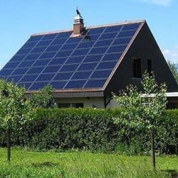 Design houses that use solar cell technology applications designed to prevent global warming.