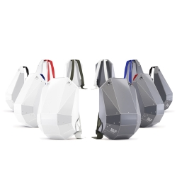 Solid Gray's new collection of backpacks! They feature interchangeable straps, available in 5 colors. Switch your straps to match your outfit!  Low weight and high performance. Made from thin, lightweight, high-tech polymer.