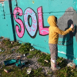 Solveig-  10 year old graffiti artist from England.