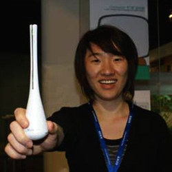 Recently Sony encouraged some ID students from China to come up with eco-friendly products. Concepts like a showerhead music player, and conductor's baton-styled TV remote were showcased.