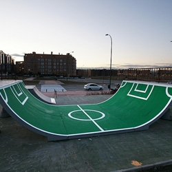 A new urban intervention at skate ramp by SpY