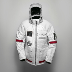 SpaceLife launches their new, limited-edition Mars Line Jacket in support of the Mars One expedition. Features built in audio system with microphone, speakers and bluetooth controls.