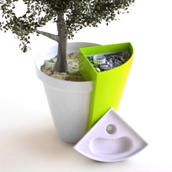 "Concept by italian design duo, Spigoli Vivi. ""Jarst"" is both planter and composter designed for interior spaces with a carbon filter to eliminate odors."