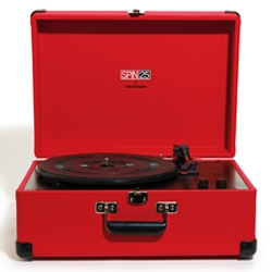 For its 25th anniversary, SPIN magazine has collaborated with Crosley to produce a limited-edition USB turntable in vibrant PMS 186 red. This item celebrates music's vinyl past, while looking forward to the digital future. Only 125.