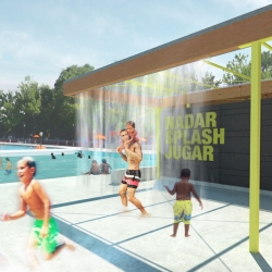 Splash House- Parsons Design Workshop 2011 design for new pool pavilions to be built by the students this summer.