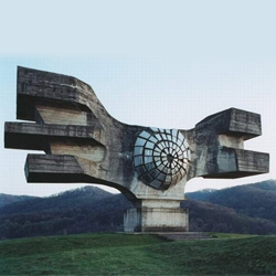 Jan Kempenaers took great photos of Communist monuments in Yugoslavia (built in memory of various WWII battles)