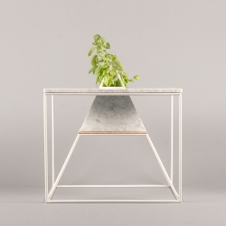 Sputnik-5, coffee table planter hybrid, a homage to the pioneer satellite, from Plan S-23.