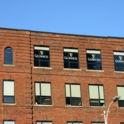 Grey Group Canada noticed the majority of office windows have white blinds. By adjusting them to a certain height and simply adding a clear decal of the infamous logo, we could create a visual illusion of a pint of Guinness.