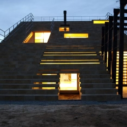 Stairs house by y+M Design Office in Oda-City, Shimane-Pref, Japan.