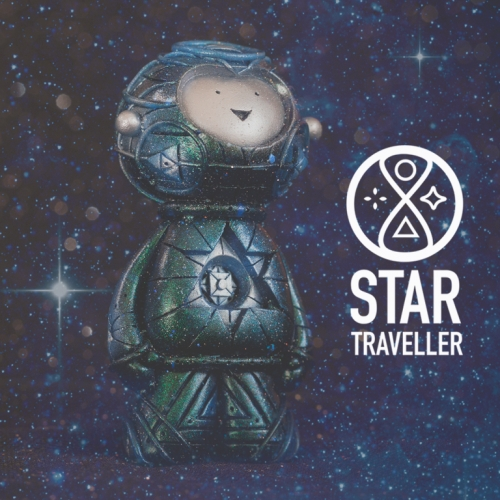 The Muju Star Traveller sculpture is ready to launch... Help fund this new sculpture from Muju Studio -  a handmade bio-resin figure inspired by intergalactic space travel.