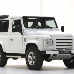 Luxurious Land Rover Defender by German tuners, STARTECH.  The Defender takes its design inspirations from luxury yachts.