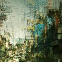 Experimental cityscape photography by Stephanie Jung.