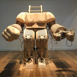Sculptor Michael Rea builds time machines, prosthetic suits, spaceships and more -- all out of wood!