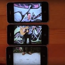 Director Behn Fannin used three iphones to create this unique video.