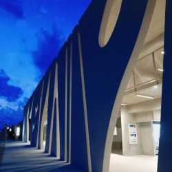 Japanese studio EASTERN design office has designed the sculptural facade -  Strips in Shiga Japan.
