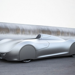 German designer Luke Rittwage pays respect to the 1938 Auto Union Type C 'Silver Arrow' with his Stromlinie 75 Concept Car.
