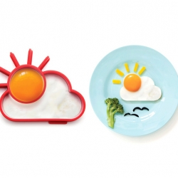Sunnyside - designer Avihai Shurin designed this Egg Shaper that lets you create a shining sun through clouds - sunnyside up.