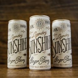 Buck O'Hairen's Legendary Sunshine, energy drink, antidote to Moonshine, hangover remedy, with natural ginger flavoring, no high fructose corn syrup, and a great story to tell.