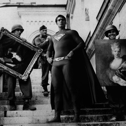 Artist / Photographer Agan Harahap places super heros in the scenes of Historic wartime moments