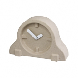 Recycled paper pulp clocks for INVOTIS ORANGE. Designed by Chris Koens and Ramon Middelkoop.