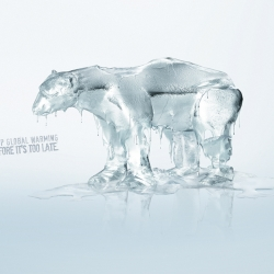 Nice ad from TBWA Mexico for pro natura. Really nice ad and definitely effective, I think the bear version is much more effective than the jaguar. Just because when I think of global warming I think of the polar ice caps melting.