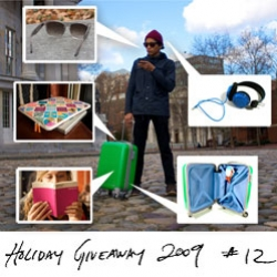 Holiday Feature! Massive wejetset GIVEAWAY! Everything you need to run away for the holidays in style ~ hideo roller, super sunglasses, wallpaper guides, incase sleeve, and wesc headphones!