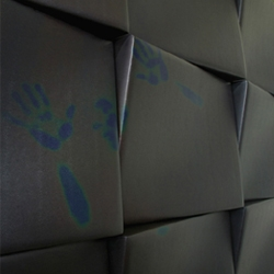 TOUCH WALL PANELS:  Thermosensitive modular wall panels that shift color in response to body heat.