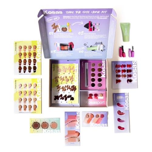 Kosas Take The Site Home Kit - samples of nearly all of their products in so many colors. In a pandemic world where make up sampling in store isn't what it was, this is a lovely idea. And get the cost of the kit back as a credit towards a future purchase.
