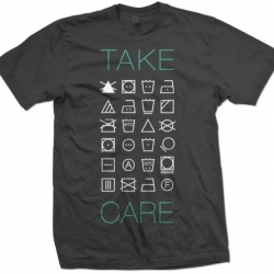 Take Care T-shirt by Simplified Clothing based in Detroit. Good Simple Design.