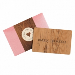 For the superstitious, Ich&Kar designed a Knock On Wood card to have on us at all times!