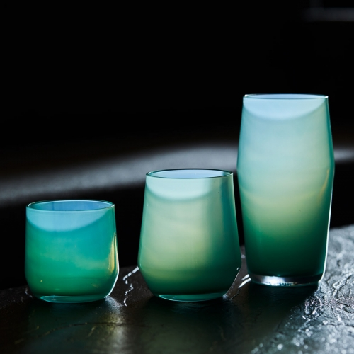 Mazama Glassware at Tanner Goods - Bold and vivid Jade glassware made in Portland, Oregon in a striking and distinctively hazy hue of jadeite.