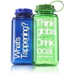 """""""THINK GLOBAL.  DRINK LOCAL.""""  You're stylin' when you're part of the campaign to """"send a message in a bottle to the bottled water industry."""""""