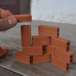 KIOSK has adorable little terracotta building blocks from Colombia