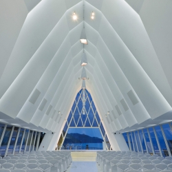 Bringing back the A-Frame. The White Chapel in Discovery Bay, Hong Kong. By Danny Cheng Interiors.