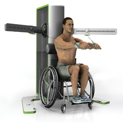 """The Access"" is universal fitness equipment that accommodates  both wheelchair users and able bodied users. "" Email designer ryan.eder@gmail.com for more info."