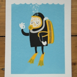 New screenprints uploaded to Peskimo - available via Etsy - including this print titled - 'The Bends'