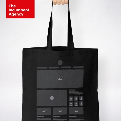 This HTeeML tote bag by The Incumbent Agency is a great gift idea for UX, UI and web designer. Best viewed in Firefox or Chrome.