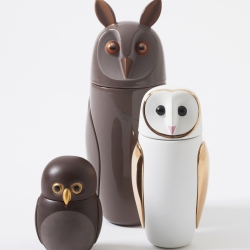 The Owls collection for Bosa, a new concept for little containers for your desk. Designed by Manolo Bossi.