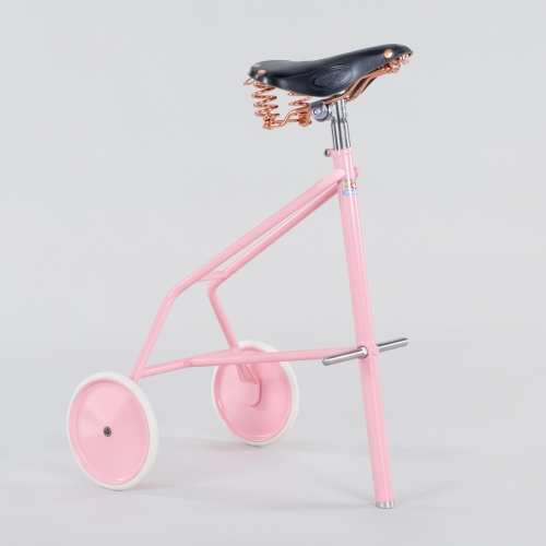 THE TWONKY - powder-coated, steel framed bike stool featuring a Brooks® B67 leather saddle with copper springs.  Available in various colours. By Milton Priest.
