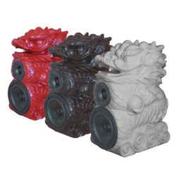 Who can resists these lovely Dragon speakers by Axelsson