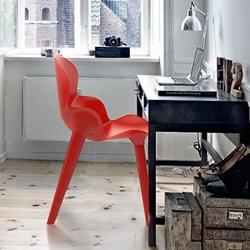 Three chair by French designer Alexandre Boucher.