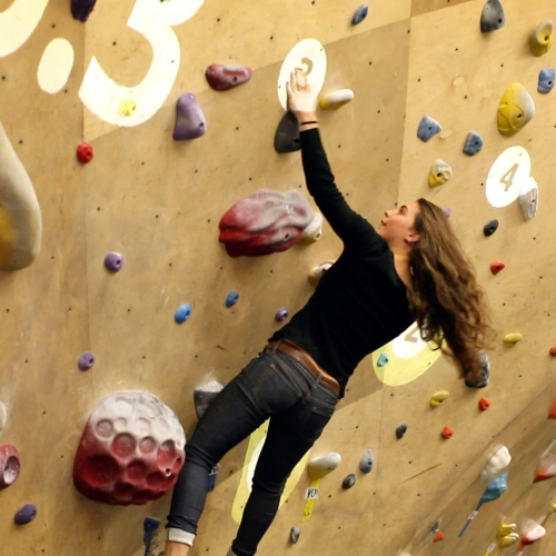Time Trial is an interactive rock climbing video game produced by Randori, and hosted at Brooklyn Boulders Somerville twice a month. Players compete in a dynamic setting featuring augmented reality on a climbing wall.