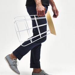 The SIDEKICK stool is easy come easy go - latest work by New Zealand's Timothy John.