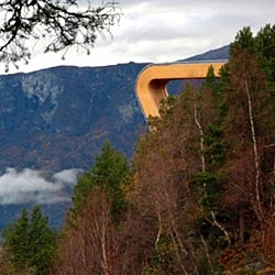 "Norwegian Highway Lookout by Todd Saunders & Tommie Wilhelmsen. What a spot to go""parking""..."