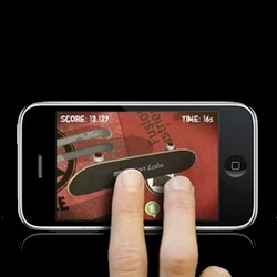 Touchgrind, the first skate game and multi-touch game for the iPhone/iPhone