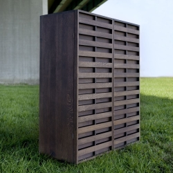 Inspired by a stay in a treehouse, designer Remy Meijers created this beautiful solid oak wardrobe.